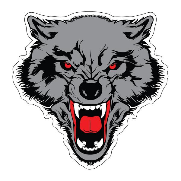 Наклейка Волк-017, фото 1