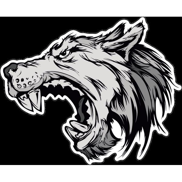 Наклейка Волк-019, фото 1