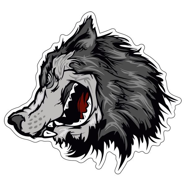 Наклейка Волк-020, фото 1