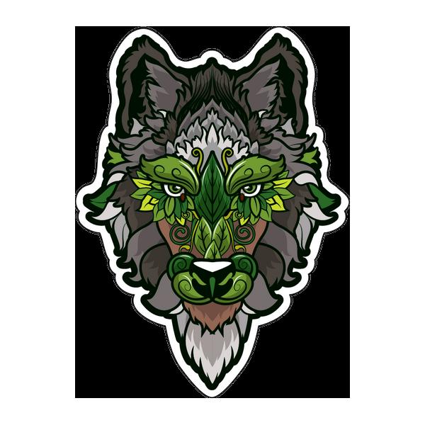 Наклейка Волк-023, фото 1