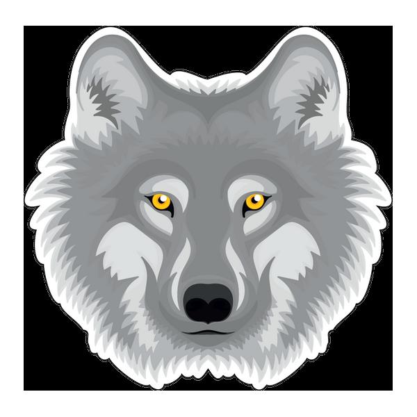 Наклейка Волк-026, фото 1