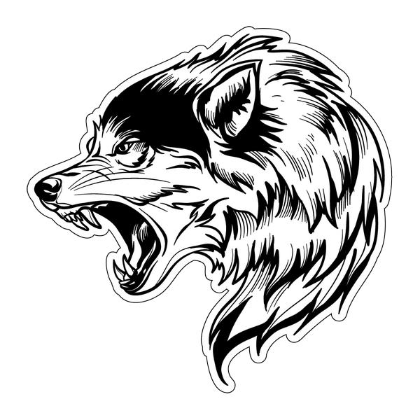 Наклейка Волк-028, фото 1