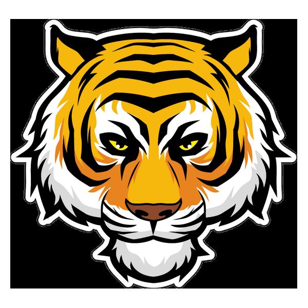 Наклейка Тигр-004, фото 1