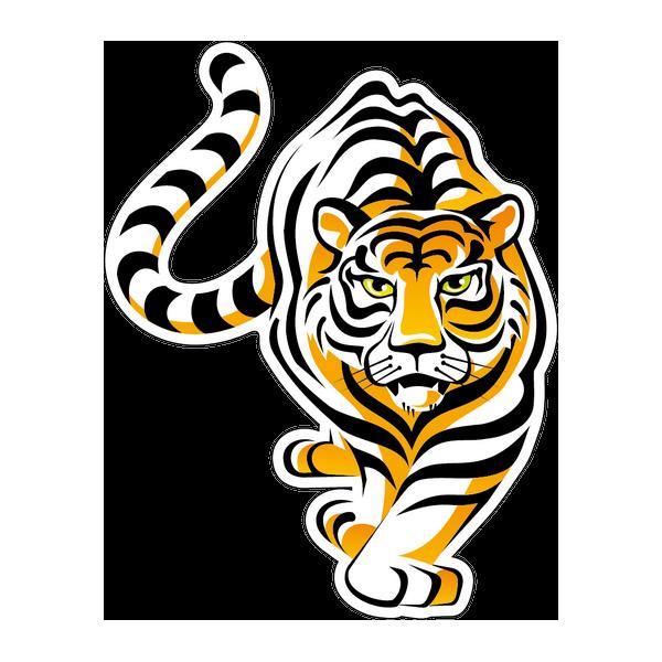 Наклейка Тигр-015, фото 1