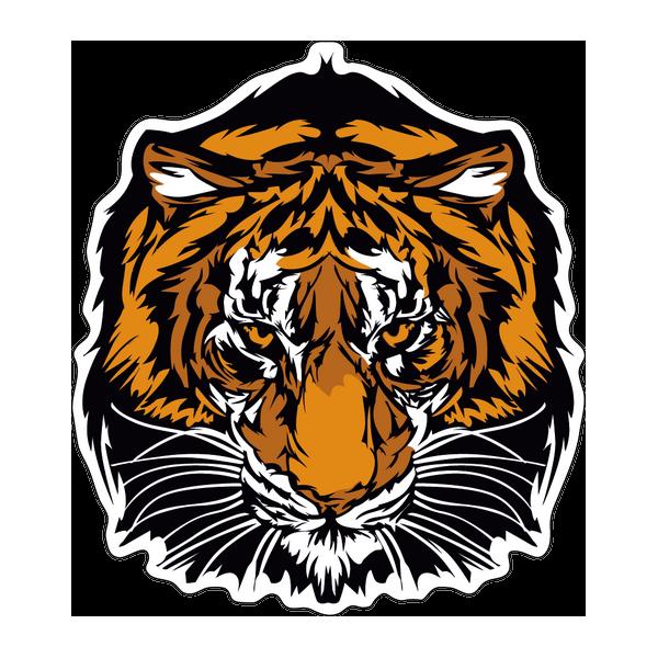Наклейка Тигр-022, фото 1