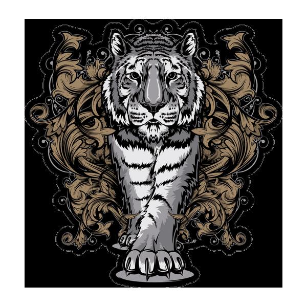 Наклейка Тигр-024, фото 1