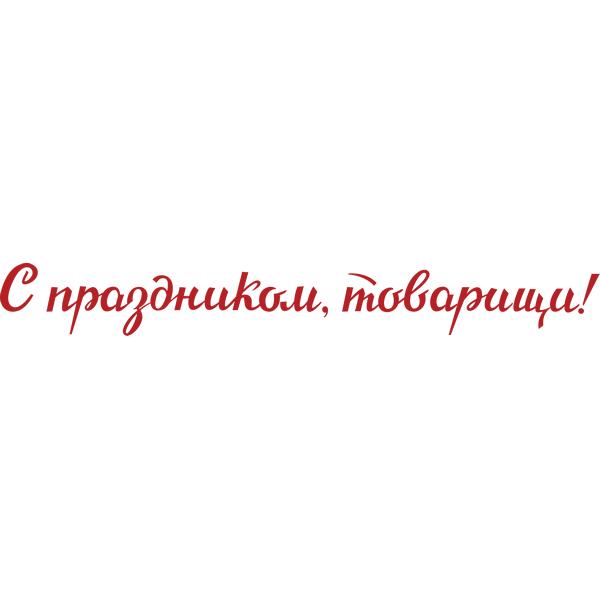 Наклейка С праздником товарищи!, фото 13