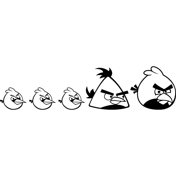 Наклейка Семейка Angry birds, фото 13