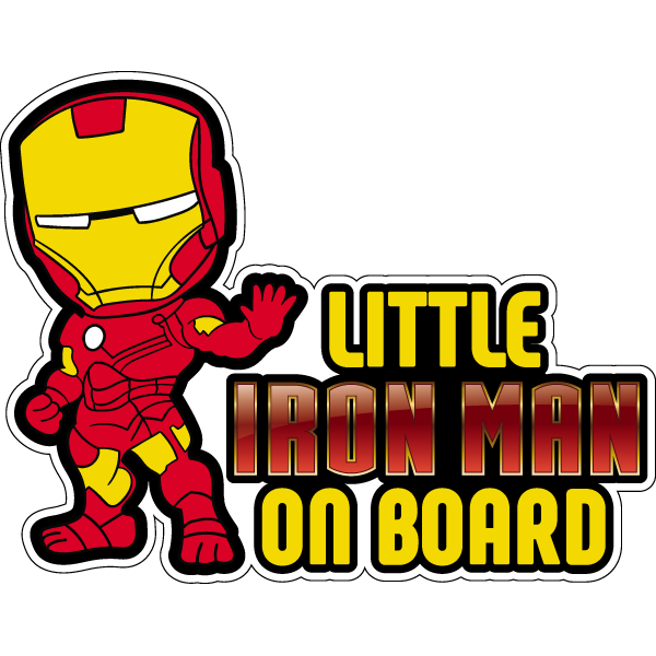 Наклейка Little Iron Man on board, фото 1