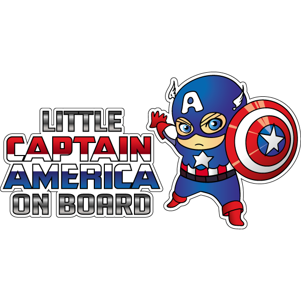 Наклейка Little Captain America, фото 1