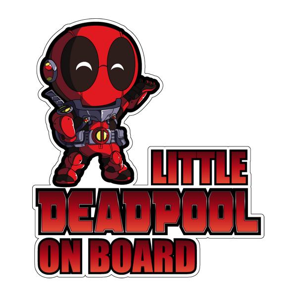 Наклейка Little Deadpool on board, фото 1