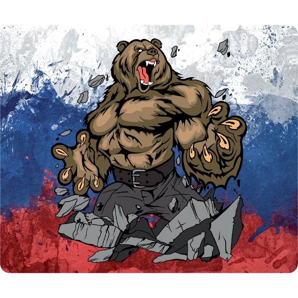 Наклейка Медведь Россия, фото 1