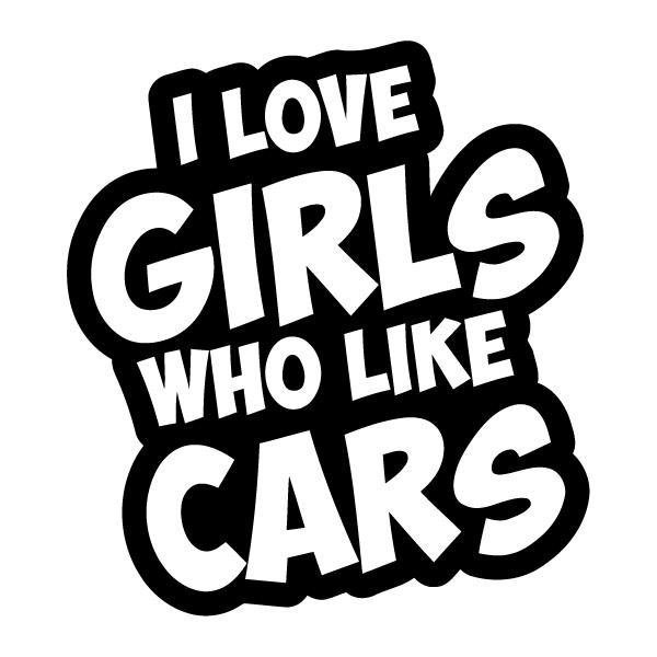 Наклейка I love girls who like cars, фото 13