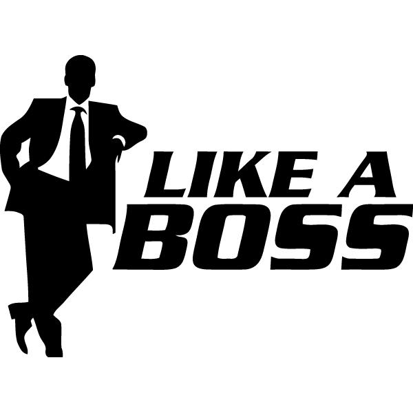 Наклейка Lika a boss, фото 13