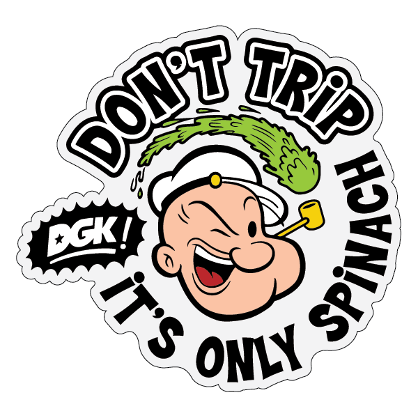 Наклейка Don't trip it's only spinach, фото 1