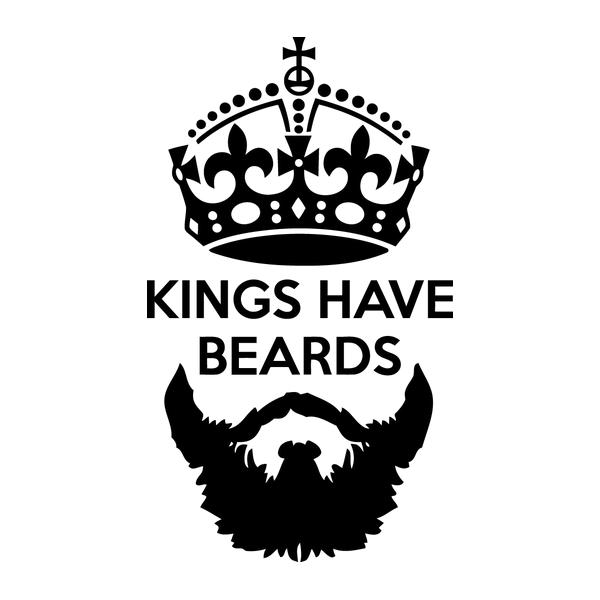 Наклейка Kings have beards, фото 13
