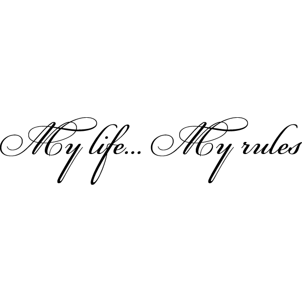 Наклейка My life... My rules, фото 13