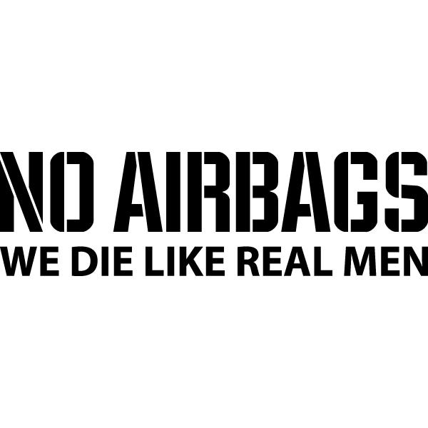 Наклейка No Airbags, фото 13
