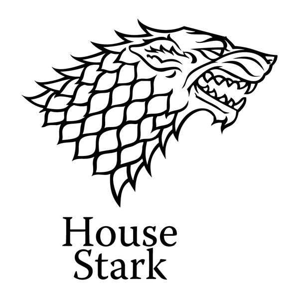 Наклейка House Stark, фото 13