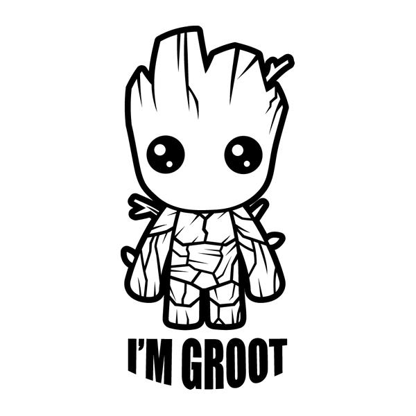 Наклейка  I'm Grot, фото 13