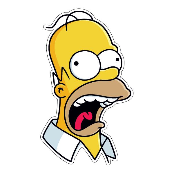 Наклейка Сумасшедший Гомер Симпсон-002, фото 1