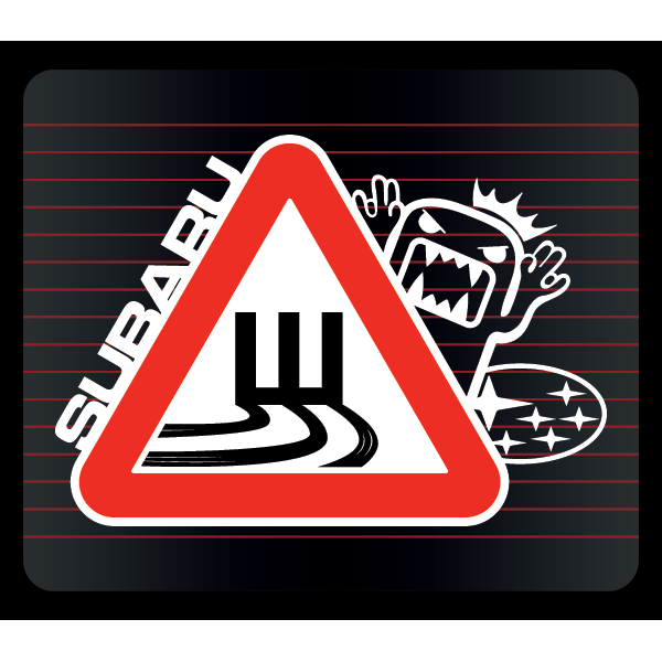 Наклейка Шипы Subaru drift, фото 1