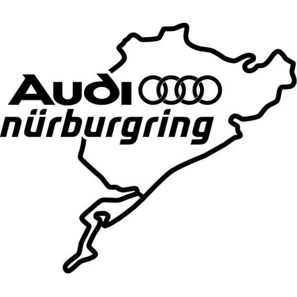 Наклейка Audi Nurburgring, фото 13