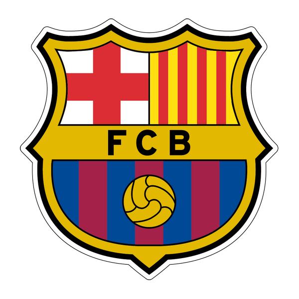 Наклейка Barcelona FC, фото 1