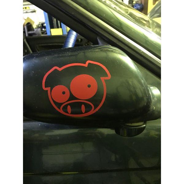 Наклейка Subaru Pig удивленная, фото 14