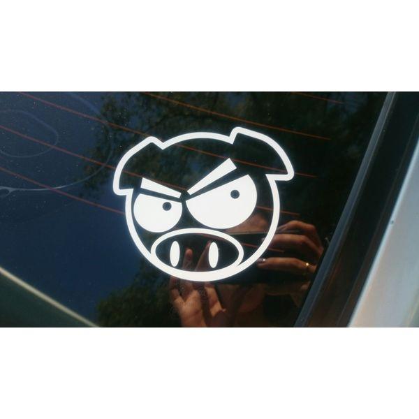 Наклейка Subaru Pig с бровями, фото 14