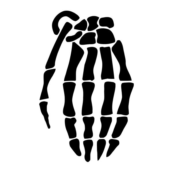 Наклейка Sceleton hand, фото 13