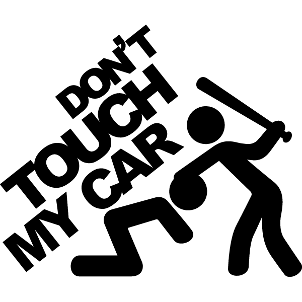 Наклейка Don't touch my car, фото 13