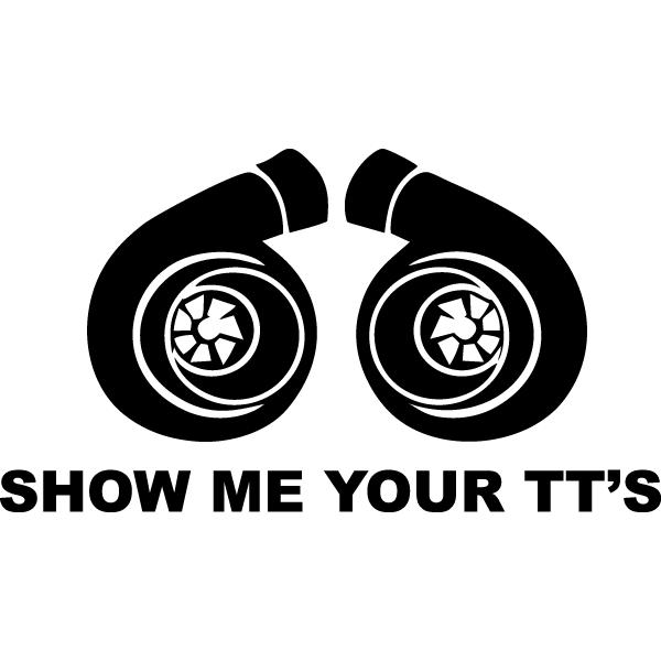 Наклейка Show me your tt's, фото 13