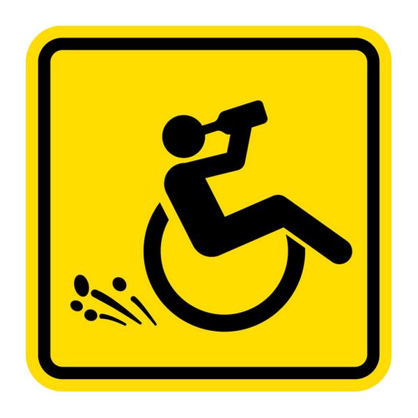 Наклейка Инвалид (прикол), фото 1