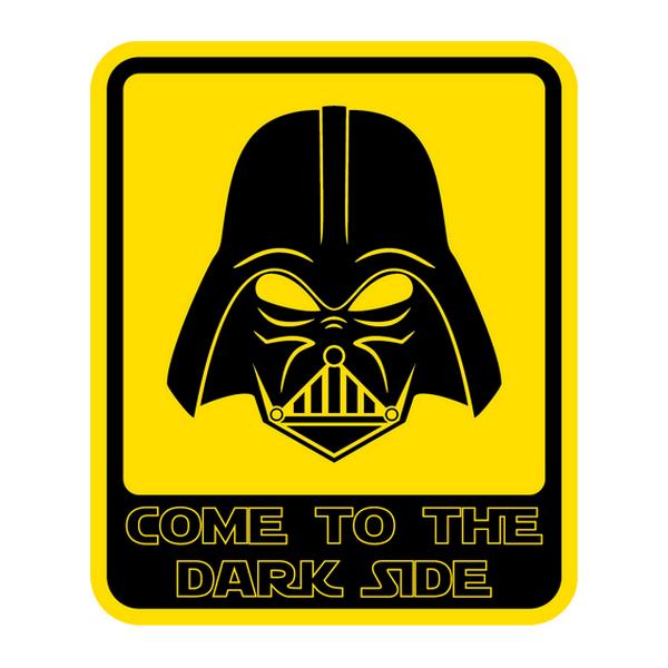 Наклейка Come to the dark side, фото 1