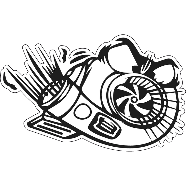 Наклейка Angry Turbo Boost, фото 1