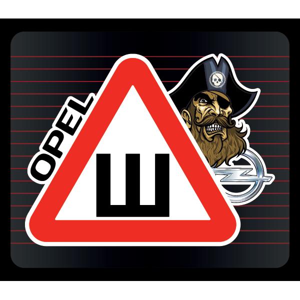 Наклейка Шипы Opel пират, фото 1