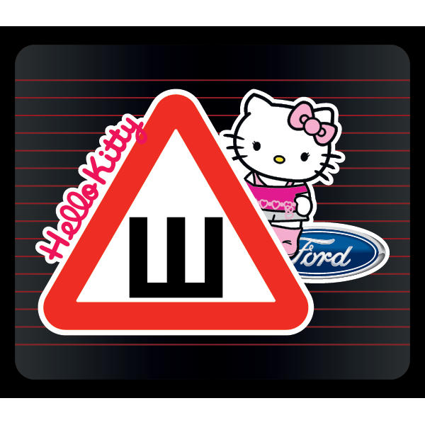 Наклейка Шипы  Ford Hello kitty, фото 1