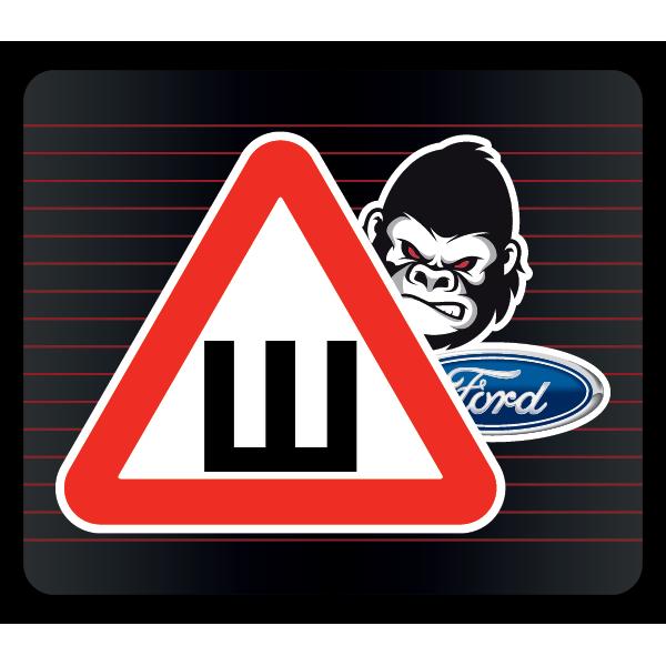 Наклейка Шипы Ford горилла, фото 1