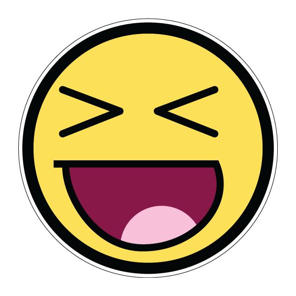 Наклейка Awesome Face lol, фото 1