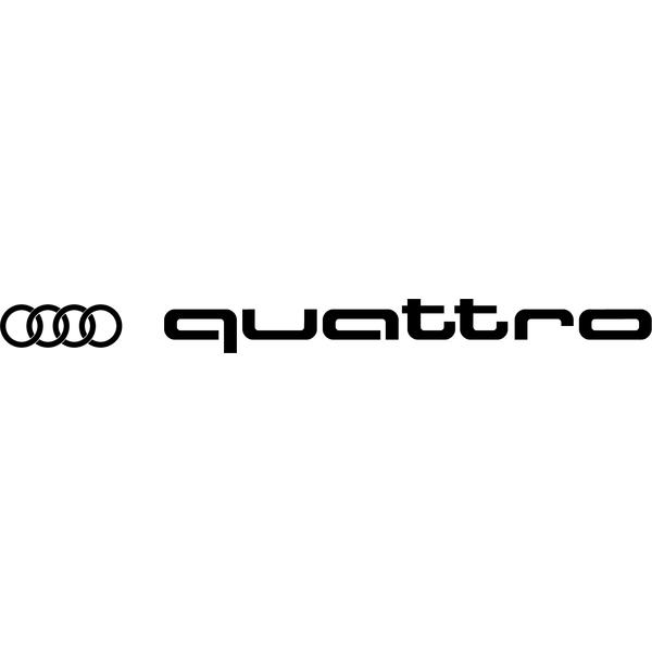 Наклейка Audi Quattro правая, фото 13