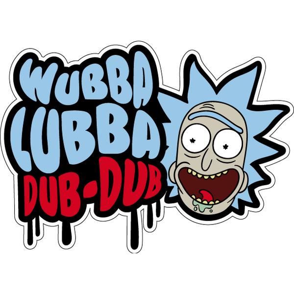 Наклейка Wubba Lubba Dub Dub, фото 1