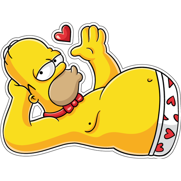 Наклейка Гомер соблазнитель, фото 1
