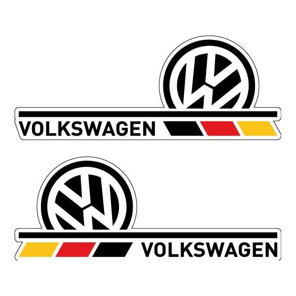 Комплект наклеек Volkswagen, фото 3
