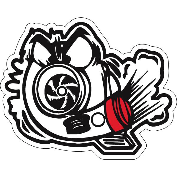 Наклейка Angry Turbo, фото 1