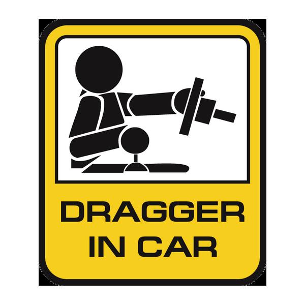 Наклейка Dragger in car, фото 1