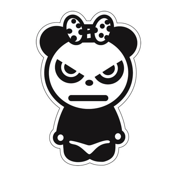 Наклейка Panda girl, фото 1