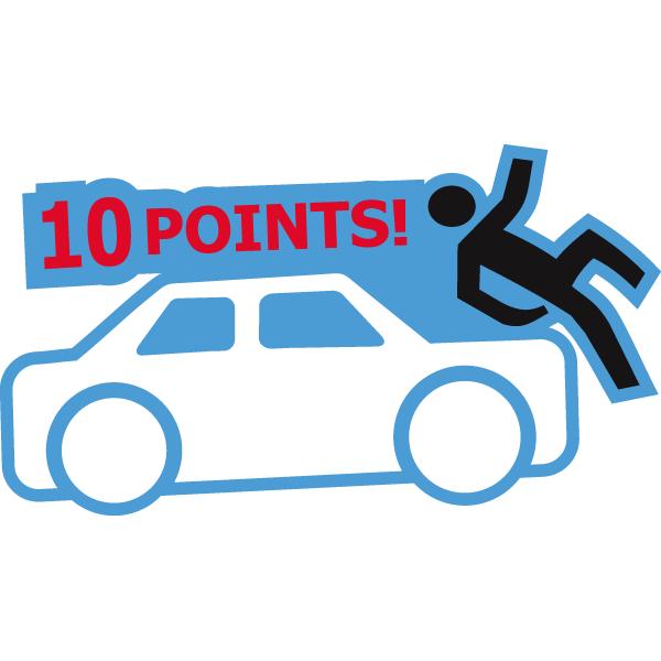 Наклейка 10 points, фото 1