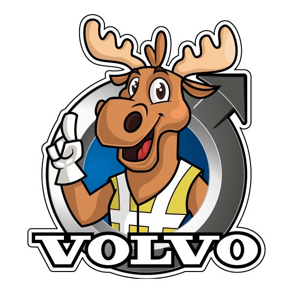 Наклейка Лось Volvo, фото 1