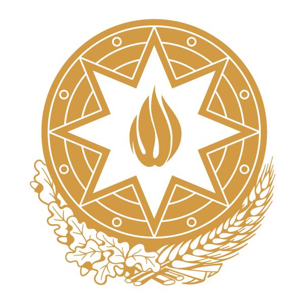 Наклейка Герб Азербайджана одноцветная, фото 13